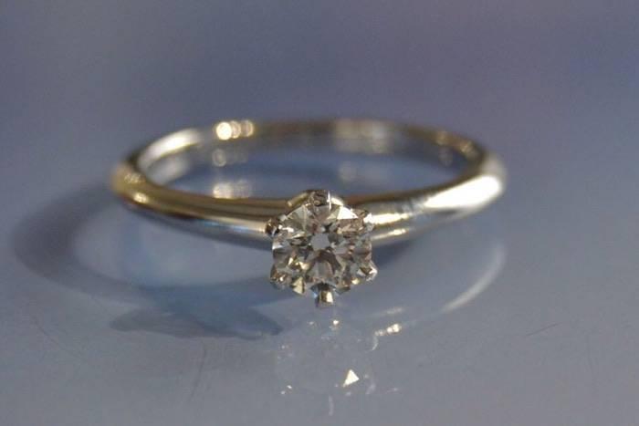 Alliance en diamant Tiffany