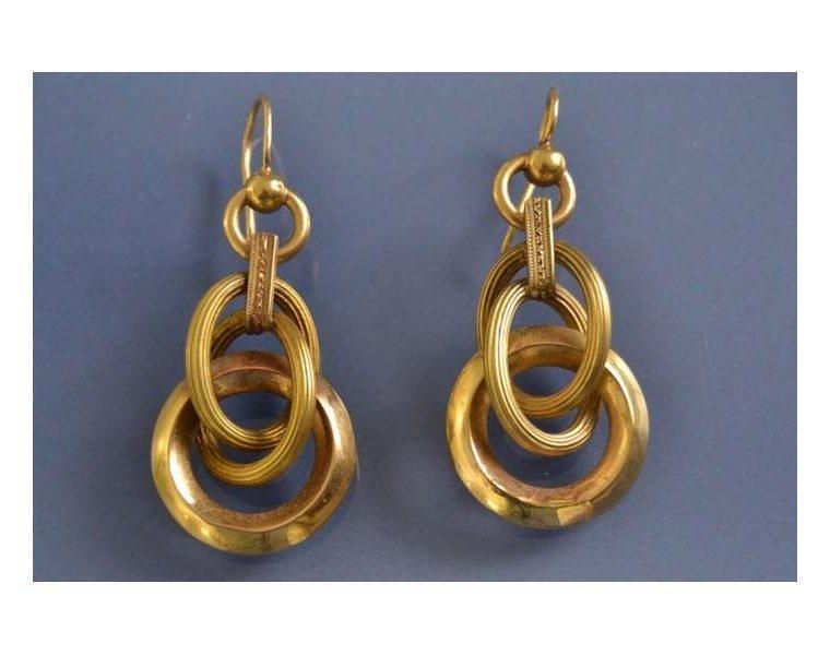 Boucle d oreille anneau or