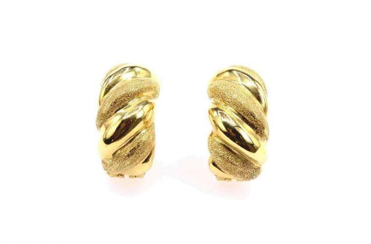 Boucle d oreille or anneau