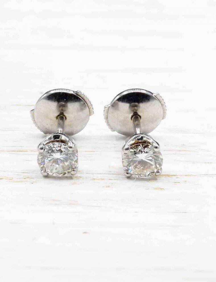 Boucle d oreille or diamant