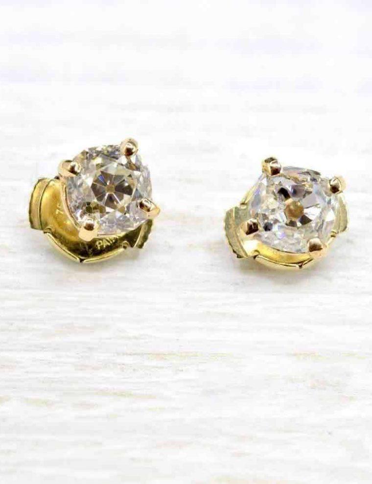 Boucle d oreille or et diamant