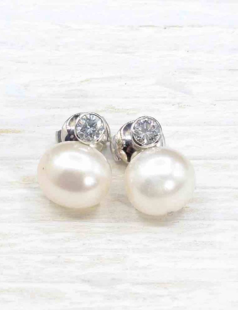 Boucle d oreille or perle