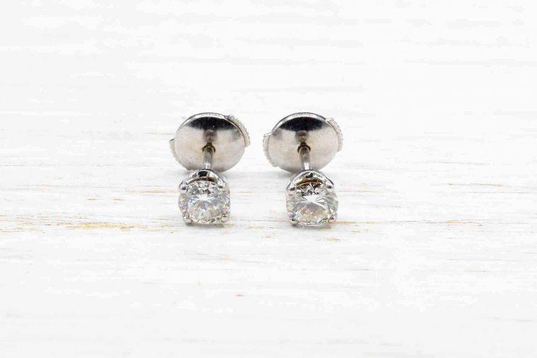 Boucle d oreille diamant solitaire