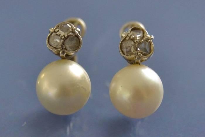 Boucle d oreille perle de culture or