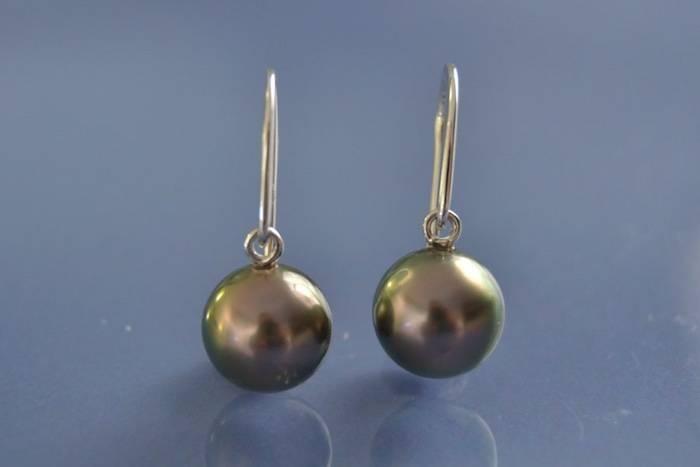 Boucle d oreille perle de tahiti