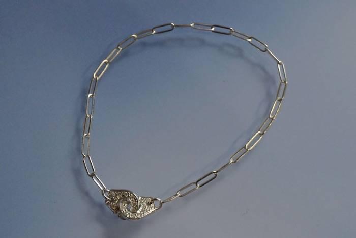 Bracelet argent menottes Dinh van