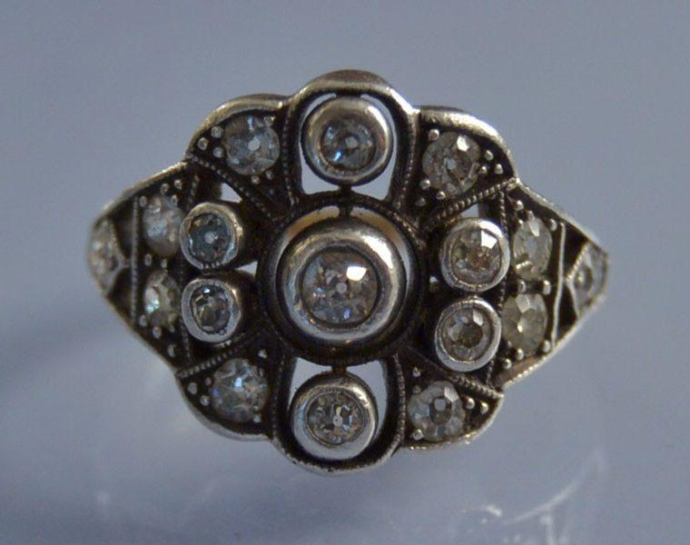 Bague d'occasion diamants sertis sur platine