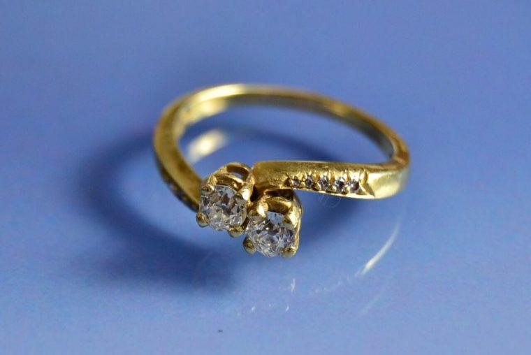 Bague toi et moi or et diamants