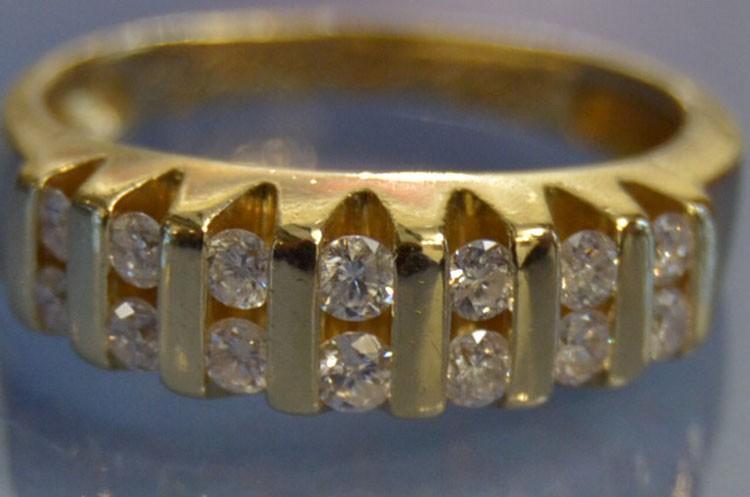 Demi alliance diamants