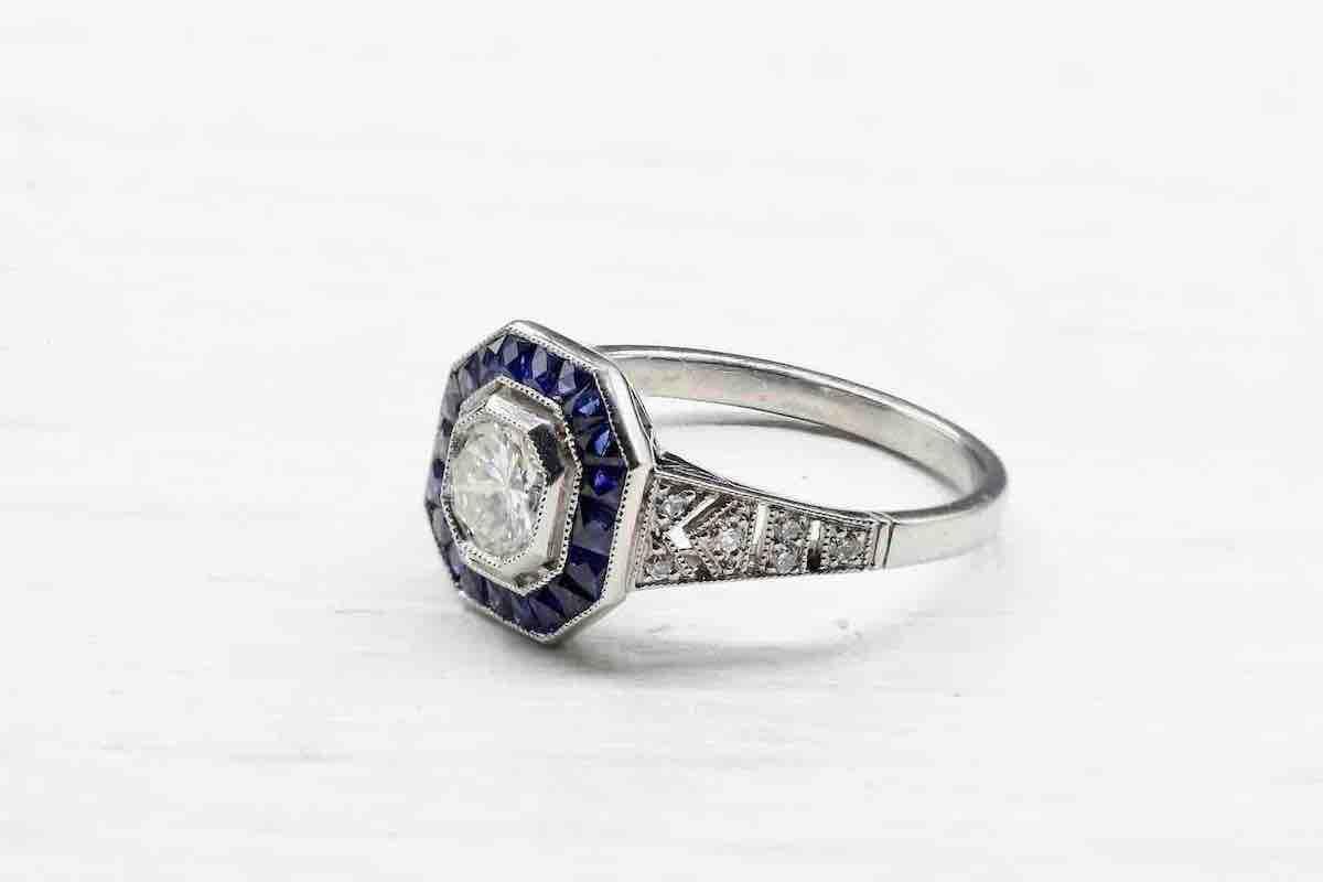 bagues d'occasion saphir et diamants