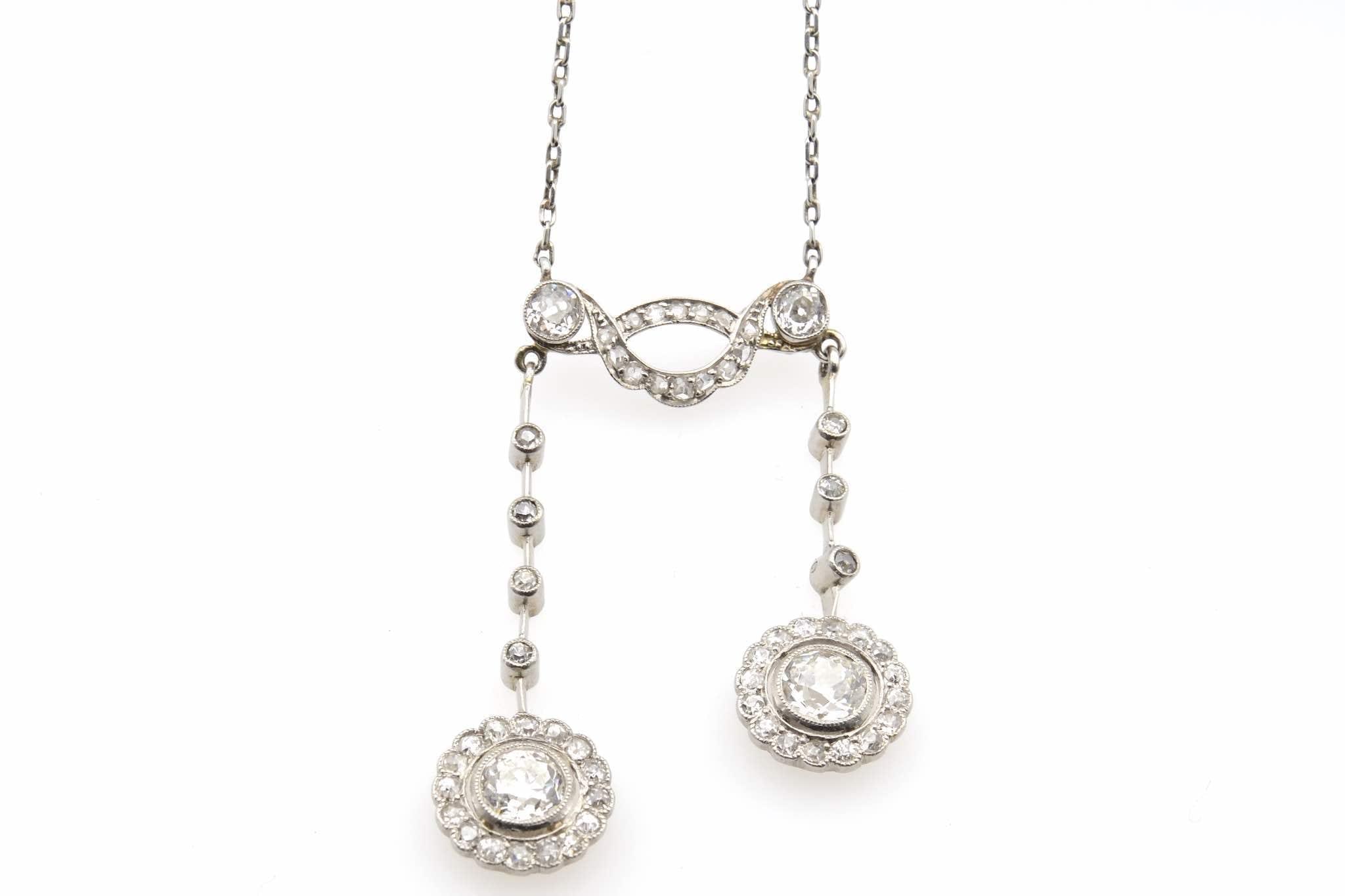 rachat de colliers or blanc 18k diamants