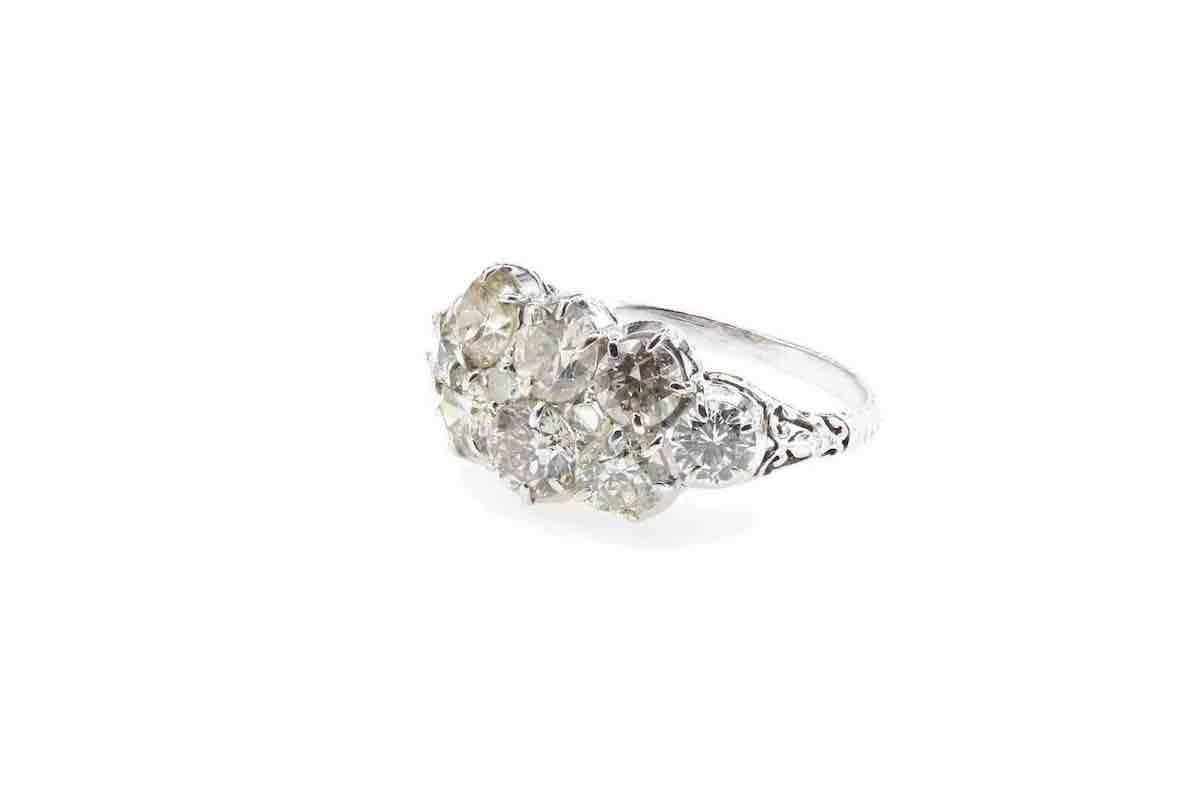 bague fiançailles sertie de diamants