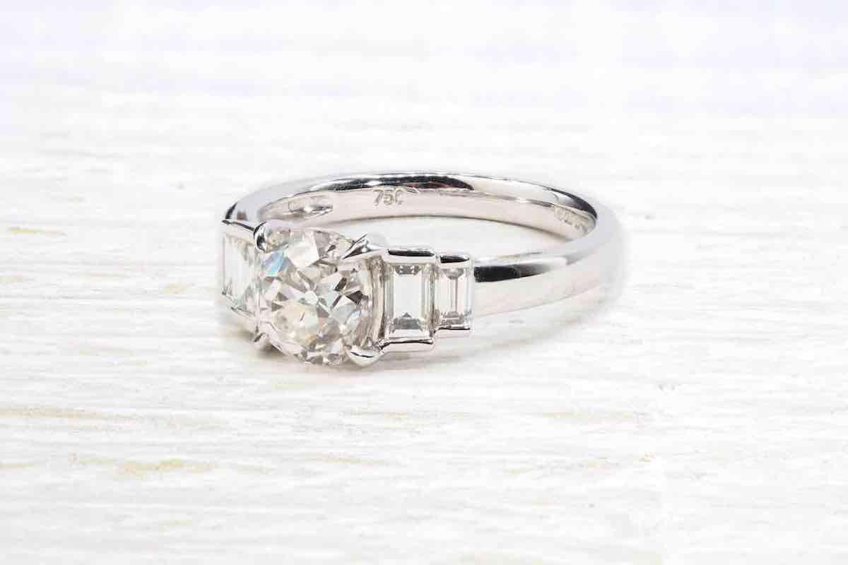 bague fiançailles diamant solitaire