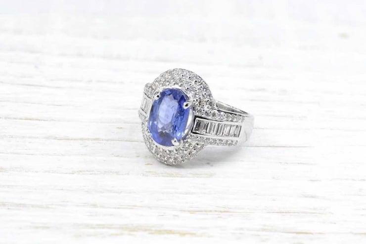 achat bague saphir diamant